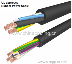 Rubber Power cable UL approved with different colour of conductors Rubber EPDM and CPE