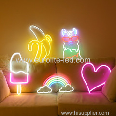 Hot Outdoor Wall Light rainbow shape LED Sign Neon Lights night lamp for home club room Wedding decoration