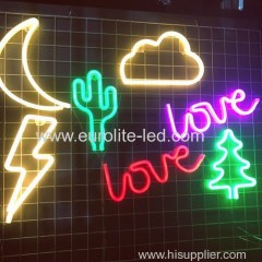 Led Neon Light Colorful Rainbow Neon Sign for Room Home Party Wedding Decoration Xmas Gift Neon Lamp
