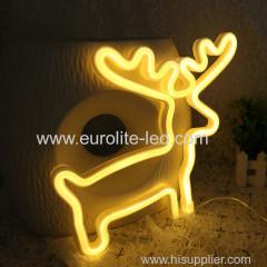 Hot Sale Fancy Christmas Halloween Home Decoration Festival LED Neon Lights Elk Heart Gift Light