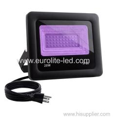 20W IP66 LED UV Floodlight with Plug Perfect for Neon Glow Blacklight Party Stage Lighting Fishing Aquarium
