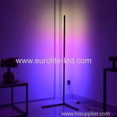 Modern RGB LED Corner Floor Lamp Bedroom Bedside Living Room Atmosphere Colorful Standing Lamp Home Decor Floor Lights