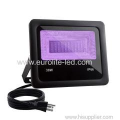 30W IP66 LED UV Floodlight with Plug Perfect for Neon Glow Blacklight Party Stage Lighting Fishing Aquarium DJ Disco