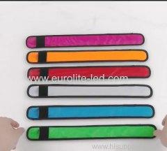 Adjustable LED Flashing Wrist Band Bracelet Arm Belt Light Up Glow Dance Party Decor Luminous Glowing Bangle Neon Party