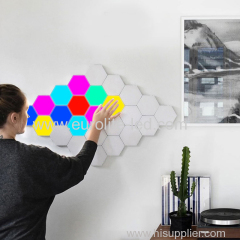 New Design Creative DIY Quantum Lamp LED Hexagonal Lamps Modular Touch Sensitive Wall Light