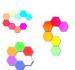Christmas Gift Creative DIY Colorful Quantum Light LED Honeycomb Light Modular Touch Sensitive Wall Light