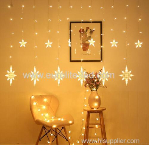 Led Polaris And Star Shaped Curtain Lights Waterproof Fairy Decorative Light For Christmas Wedding Birthday Party Decor