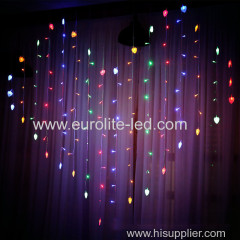 Valentine's Day Led Icicle USB Remote Control 128leds Party Holiday Indoor Decoration Love Curtain String Light