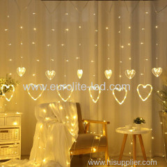 Valentine's Day Led Love Curtain For Holiday Wedding Home Decor String Light