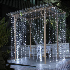 Led Fancy 3*3m 300leds Customized Socket 8 Function Wedding Holiday Decoration Curtain Light