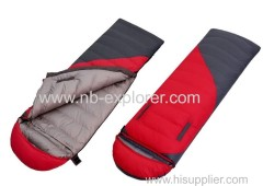 Comfortable envelope sleeping bag