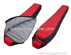 Down filled 800 FP sleeping bag