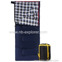Flannel lining evenlope sleeping bag