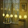 LED snowflake curtain light copper wire light decoration wedding festival atmosphere light girl room romantic