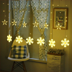 LED snowflake curtain light copper wire light decoration wedding festival atmosphere light girl room romantic