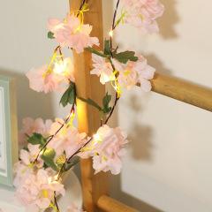 Led Rattan String Lights Christmas ins Room Decoration Hydrangea Vine String Lights