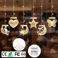 Valentine's Day Led Icicle Romantic Home wall Decor USB Acrylic 3D Curtain String Light high class Party holiday gift