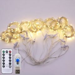 3*3M colorful remote control 300 LED curtain light for wedding decoration