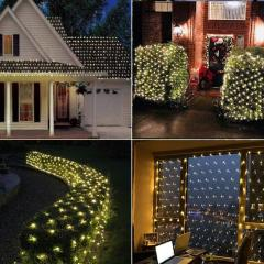Led 3m*2m 200leds Net Light For Christmas Holiday Party Remote Control Curtain Light