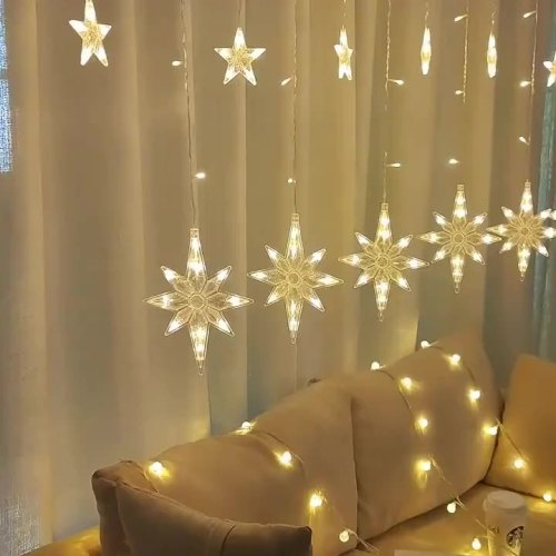 Led 1.5*2 m 210 LEDs Rainbow String Light 8 Function Remote Control For Decoration Curtain String Night Light