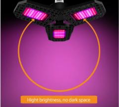 144 Pcs LED Grow Light for Indoor Plan Grow Lamp Full Spectrum Plant Light Foldable LED Grow Light Bulb 144pcs LEDs