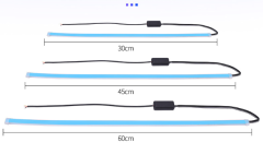 Car LED Daytime Running Lights Modified Ultra-thin Streamer Colorful Remote Control Turn Signal Strip Light