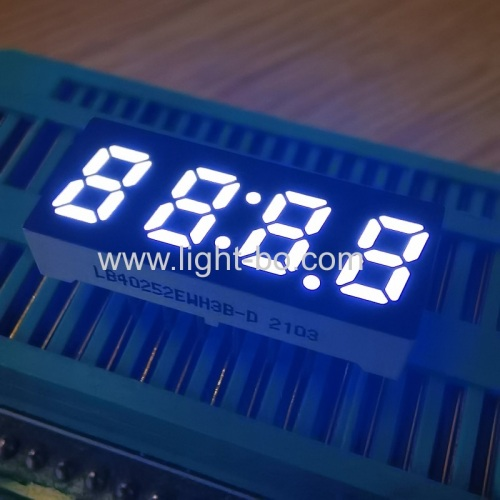Ultra bright white small size 0.25 4 Digit 7 Segment LED Clock Display common cathode for home appliances