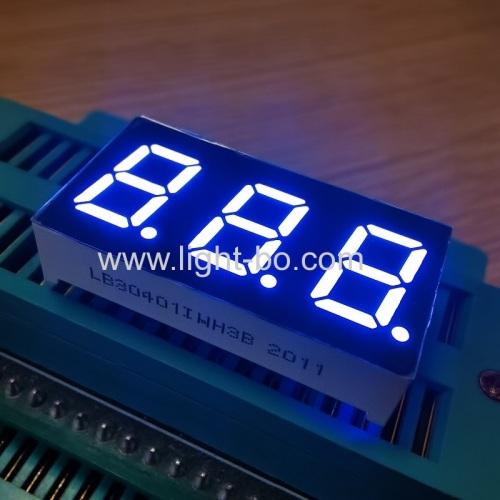 ультра яркий белый 0,4-дюймовый трехзначный 7-сегментный светодиодный дисплей общий анод для индикатора температуры
