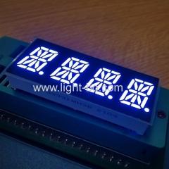 ультра яркий белый 0,39-дюймовый 16-сегментный 4-значный светодиодный буквенно-цифровой дисплей общий анод для контрольной панели