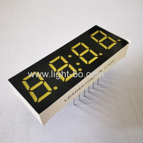 Ultra white 0.4 4 Digit 7 Segment LED Clock Display common cathode for Home appliances Control Panel