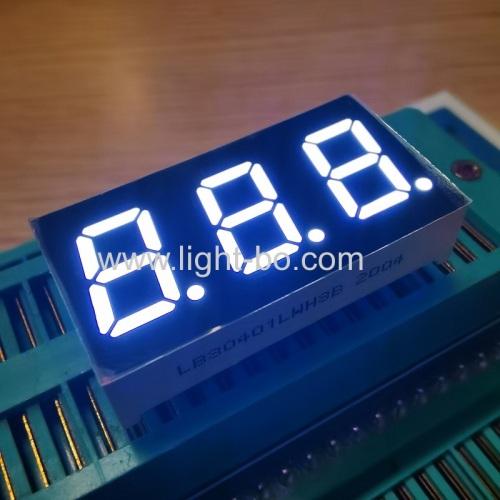 сверхяркий белый 3-значный 7-сегментный светодиодный дисплей с общим катодом 0,4 дюйма для приборной панели