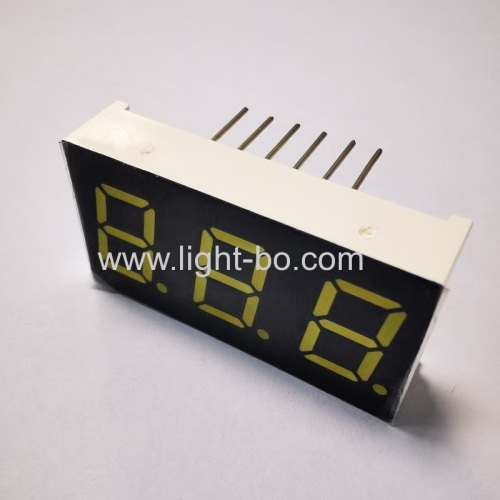 Ultra bright White 3-Digit 7 segment led display 0.4 common cathode for instrument panel