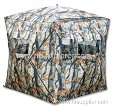 Automatic hunting blind tent