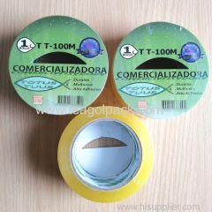 48mmx100M BOPP Packing Tape Transparent Yellow