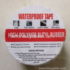 5cmx5M Butyl Rubber Waterproof Flash Tape Self Adhesive Square Aluminium