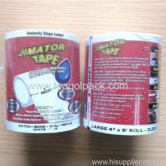 "4""x5' Waterproof Tape Rubberized White Black Patch Bond Seal Repair"