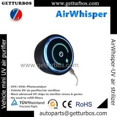 AirWhisper mini portable UVC UV UVA air sterilizer air purifier with chips for Cars EV China wholesale