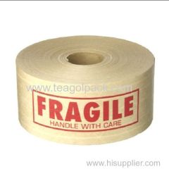 60mmx138M Fragile Adhesive Krafe Paper Paking Tape Brown