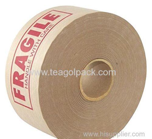 60mmx138M Fragile Adhesive Krafe Paper Paking Tape Brown