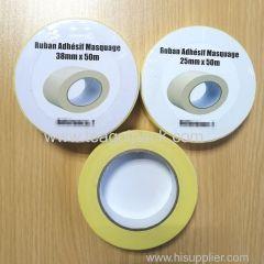 25mmx50M 38mmx50M Adhesive Masking Tape Yellow