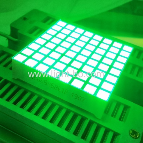 Pure Green 8*8 Square Dot Matrix LED Display Row Anode for position indicator