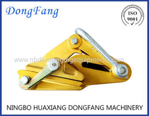 Self grippind clamps for transmission line conductor