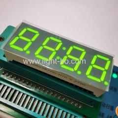 супер яркий зеленый 0,56 дюйма 4 цифры 7 сегментный светодиодный дисплей часов общий анод для таймера цифровой плиты