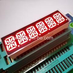 Пользовательские Супер Красный шестизначный 14 сегментный светодиодный дисплей 10мм общий анод для панели приборов