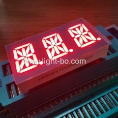 Ультра красный трехзначный 14-сегментный буквенно-цифровой светодиодный дисплей 0,54 дюйма, общий анод для регулятора температуры