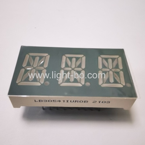 Ultra Red Triple Digit 14 Segment Alphanumeric LED Display 0.54 Common Anode for Temperature Controller