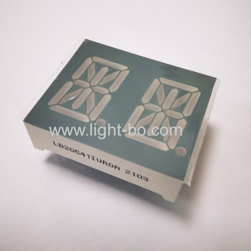 Ultra bright Red Common Anode Dual digit 0.54 14 segment Alphanumeric LED Display
