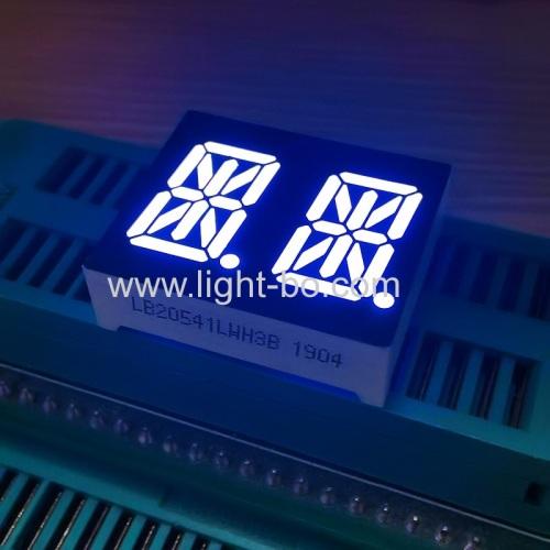 ультра-белый 0,54-дюймовый двухзначный 14-сегментный буквенно-цифровой светодиодный дисплей с общим катодом для бытовой техники