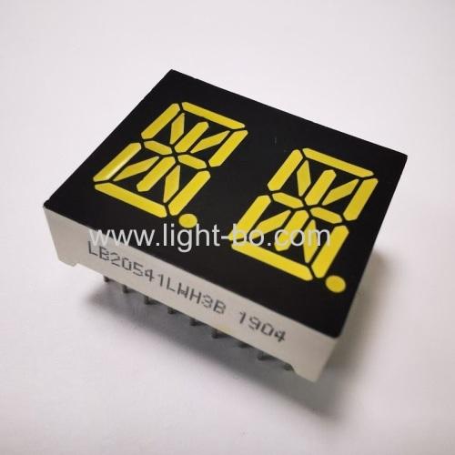 Ultra white 0.54 Dual Digit 14 segment Alphanumeric LED Display common cathode for home appliances