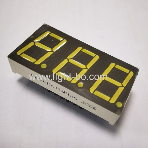 Ultra White 0.56inch common anode 3 digit 7 segment led displays for air conditioners